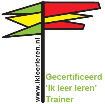 """Logo Gecertificeerd """"ik leer leren Trainer"""""""